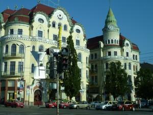 Beautiful Buildings, downtown Oradea, Romania