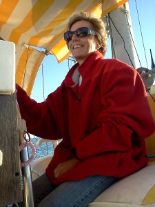 Captain Connie at the Helm