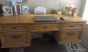 My new dream & workspace--a vintage desk.